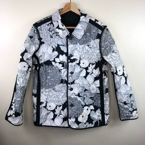 BURBERRY quilted floral reversible coat size XL